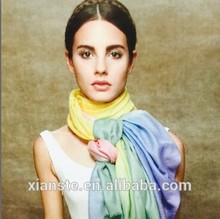 2014 big winter rainbow light print cashmere scarf
