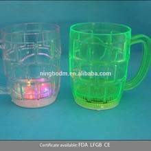 300ml led flashing beer handle glass cup mug