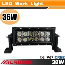 "7.5"" 36W 10-30V car 12v offroad led work offroad roof auto Trucks Driving Lamp work light fog light for SUV Pick up"