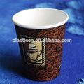 Marca de tazas de café, taza de papel 10oz, en forma de cono de papel tazas