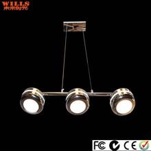 Modern silver led aluminum pendant lighting for diningroom