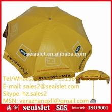 Advertising patio PVC parasol, brand printed parasol, oil proof fabric umbrella