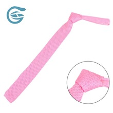Customization Seasonal Polyester Knit Pink Personalize Tie