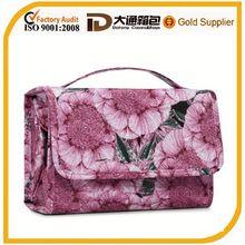 Flora patterns foldable new design lady's toilet bag