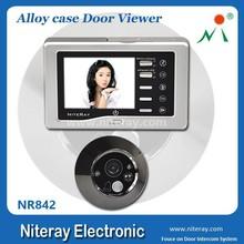 Mini electronic door peephole, entry door peephole with motion sensor