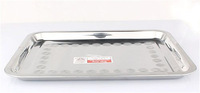 Square Stainless Steel Restaurant Metal Tray