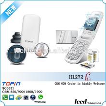 2012 flip handphone slim size model H1272