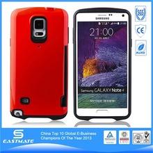 Silver custom mobile phone tpu hard case for samsung galaxy note 4