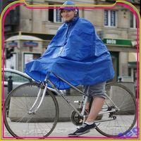 S457 waterproof cheap yellow red polyester pvc bicycle rain poncho
