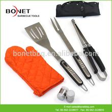 QAP0007 Stianless Steel+TPR 7Pcs Apron BBQ Tool Set