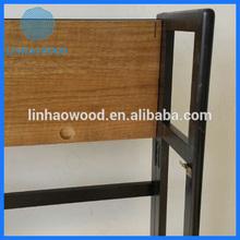 factory price high quality csutom made folding wooden bookshelf