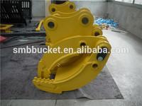 customized excavator stone grab for sales