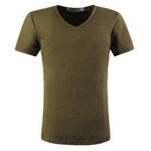 220 grams hot sale viscose/cotton v neck wholesale tshirt for gym