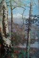 huile sur toile art mural arbre paysage peinture sur toile