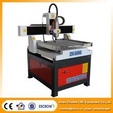 2*2 Feet /24*24 Inch /6060 / CNC Router Brass Copper Engraver 4 Axis Mach3 Control 3.2kw ZK-6060