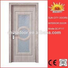 زجاجية كبيرة انزلاق مزدوج sc-p117 تصاميم إطار الباب الرئيسي