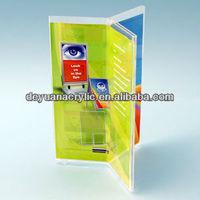 high quality acrylic table stand menu holder/acrylic triangle restaurant menu holder wholesale