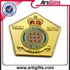 Best quality metal union jack&royal crown lapel pin