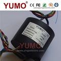 yumo sr2578 12 10a alambres cepillos de carbono alternador de deslizamiento del anillo del motor de la cápsula de deslizamiento del anillo conector eléctrico giratorio anillo de deslizamiento