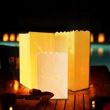 Popular Paper Candle Bags wishing fire resistant Various colors candle bag
