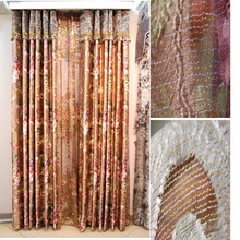 2015 Popular Sale Blackout 100% Polyester Flocking Curtain