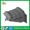 baja temperatura resistente de bajo precio de color marrón de pvc techo de canalones