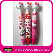 Fat Novelty plastic pen,Cartoon shape clip top,customized pen