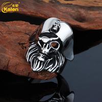 kalen jewelry popular wholesale stainless steel male skull ring