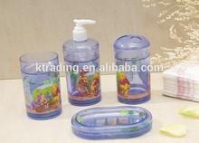 Fashion Winnie the Pooh Design Plastic Bathroom Accessory Set Bath Decor