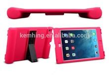 for iPad Air/iPad 5/4/3/2 kickstand silicone cover loudspeaker silicone case
