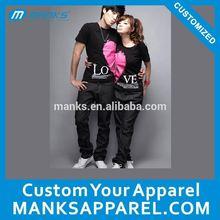 personalized fashion design couple t shirts