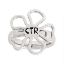 Yiwu Aceon stainless steel diva flower ctr ring for girl