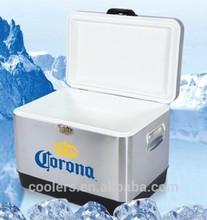 54 quart Stainless steel corona cooler box metal corona cooler ice chest