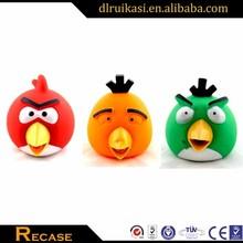 Kids small rubber toy bird, custom logo