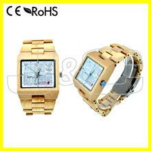 2015 hot selling natural bamboo watch and wholesale wood ceramic watch