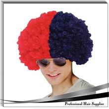 Men's hair wig for football fan, England soccer fan's wig , lovely carnival party wigs