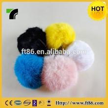China manufacturer fluffy fox fur ball keychain
