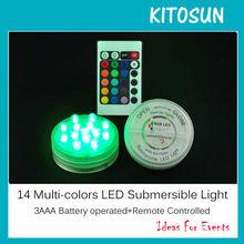 Dewalt battery replacemant Mulit-colors LED Submersible vase light under table