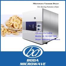 Industrial vacuum microwave banana plantain chips drying machine /vacuum microwave banana slices dryer
