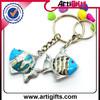Customized cheap metal mini soccer shoes keychain