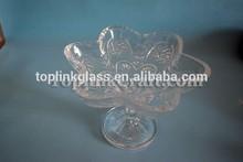 custom vidro bandeja de frutas de vidro personalizado bandeja com salto