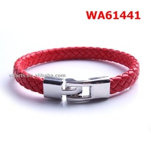 China mens braided leather bracelet leather bracelet rock
