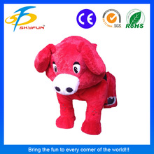 Newest popular coin operated plush animal ride walking electric kiddie ride