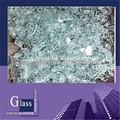 déchets de verre brisé de déchets de verre