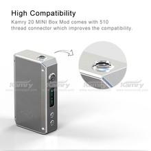 Kamry 20 mechanical mod e cig Mic USB port for 18650 rechargeable battery, 20w vaporizer pen
