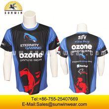 mens custom made popular street leisure wear stylish full body sublimated T-Shirts with pocket
