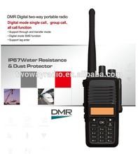 key board 5w DMR radio IP 67 waterproof standard digital walkie talkie