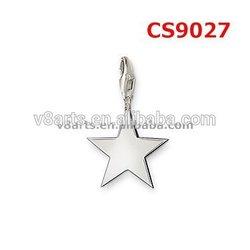 New Product star charms crystal charm bracelet set