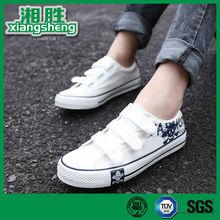 White Wholesale Canvas shoes Men with Buckle Strap