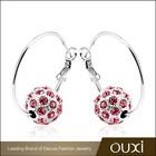 2015 New design children christmas earrings made with Swarovski Elements 20798-1
